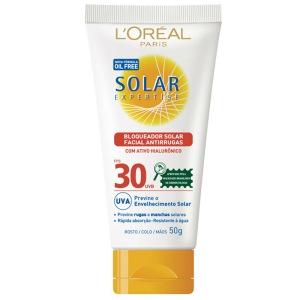 L'Oréal Paris Solar Expertise FPS 30 Oil Free Protetor Solar Diário Facial Antirrugas