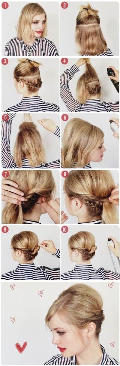 Penteados Fáceis Para Cabelos Curtos Com Passo A Passo