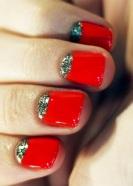 Vermelho bem aberto com detalhe em glitter