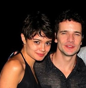 Sophie com o novo namorado, Daniel de Oliveira, e o novo corte